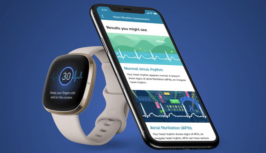 Fitbit ECG app wearable